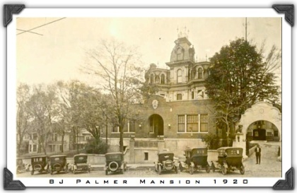 BJ Palmer Mansion 1920 framed