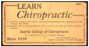 Seattle College of Chiropractic Ad