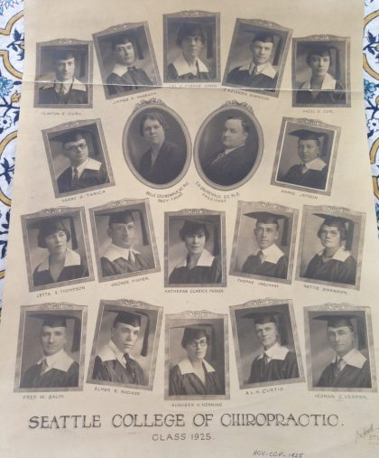 Seattle College of Chiropractic - class composite 1925
