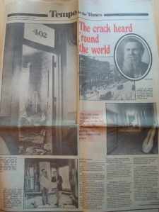 Davenport Newspaper 1980 - Ryan Building to be demolished