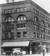 Drexel Building, Portland, OR - corner of SW 2nd Ave and SW Yamhill Ave. Second location of DD Palmer Chiropractic College (ca 1909). School was located on 4th floor.