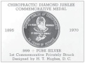 Obverse side of the Chiropractic Diamond Jubilee Commemorative Medal