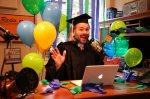 Dr Lamar Graduation Behind theMic